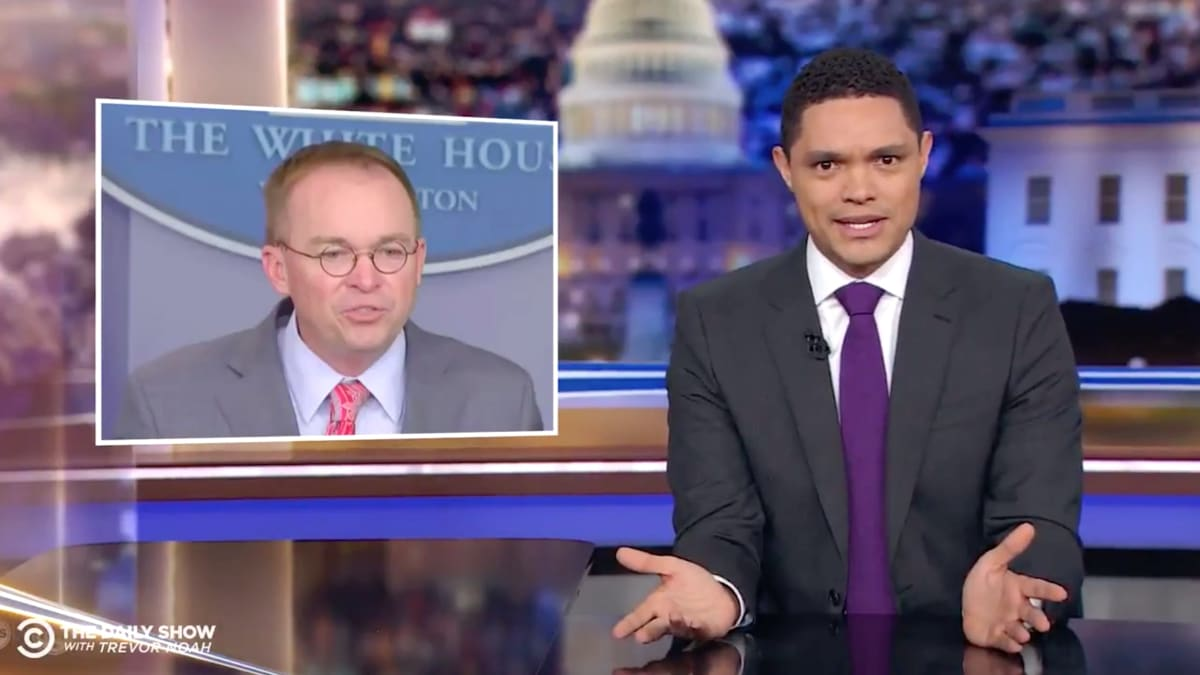 Trevor Noah Can't Believe Mick Mulvaney Just Confessed to Trump-Ukraine 'Corruption'