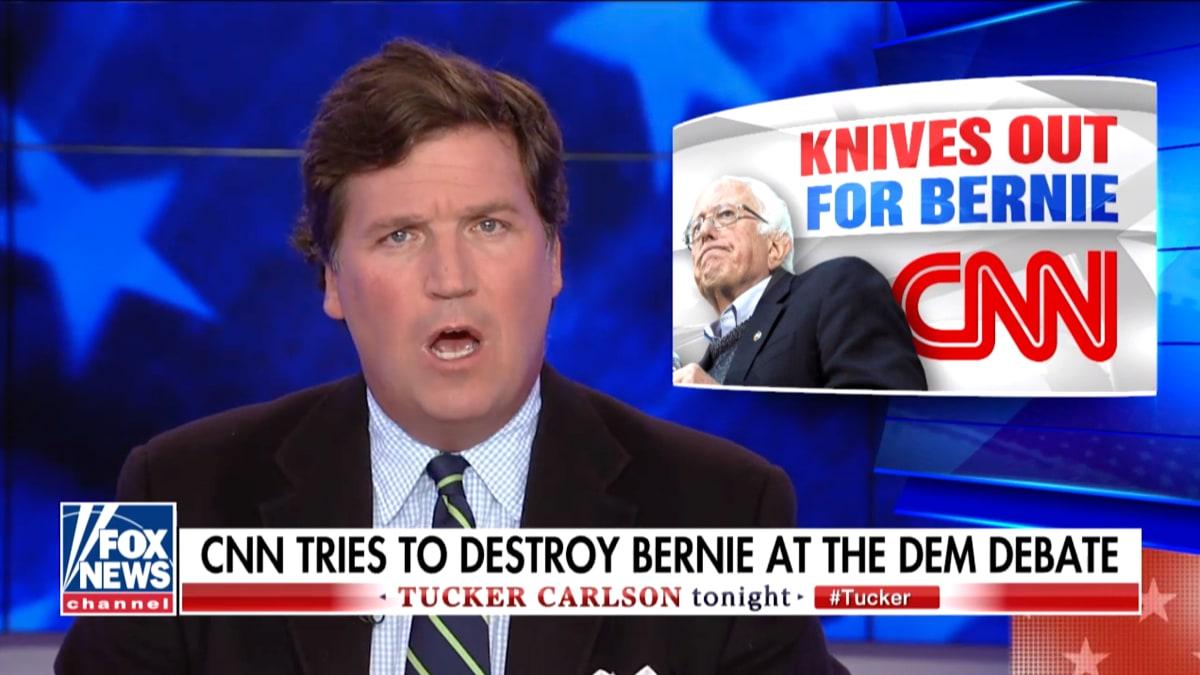 Fox News Host Tucker Carlson Goes Full Bernie Bro in Attack on CNN