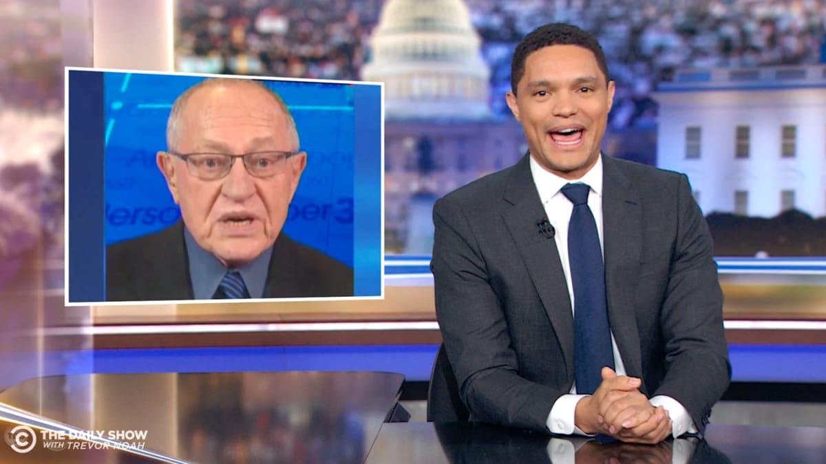 'Daily Show' Host Trevor Noah Destroys Trump Lawyer Alan Dershowitz's Impeachment Hypocrisy