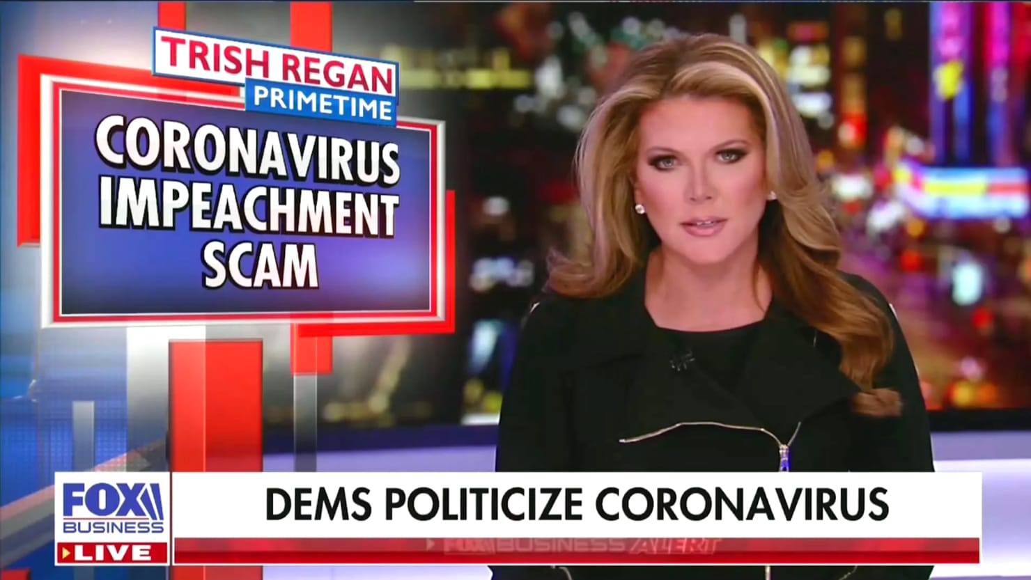 Fox Business Ditches Trish Regan After Coronavirus 'Impeachment Scam' Rant