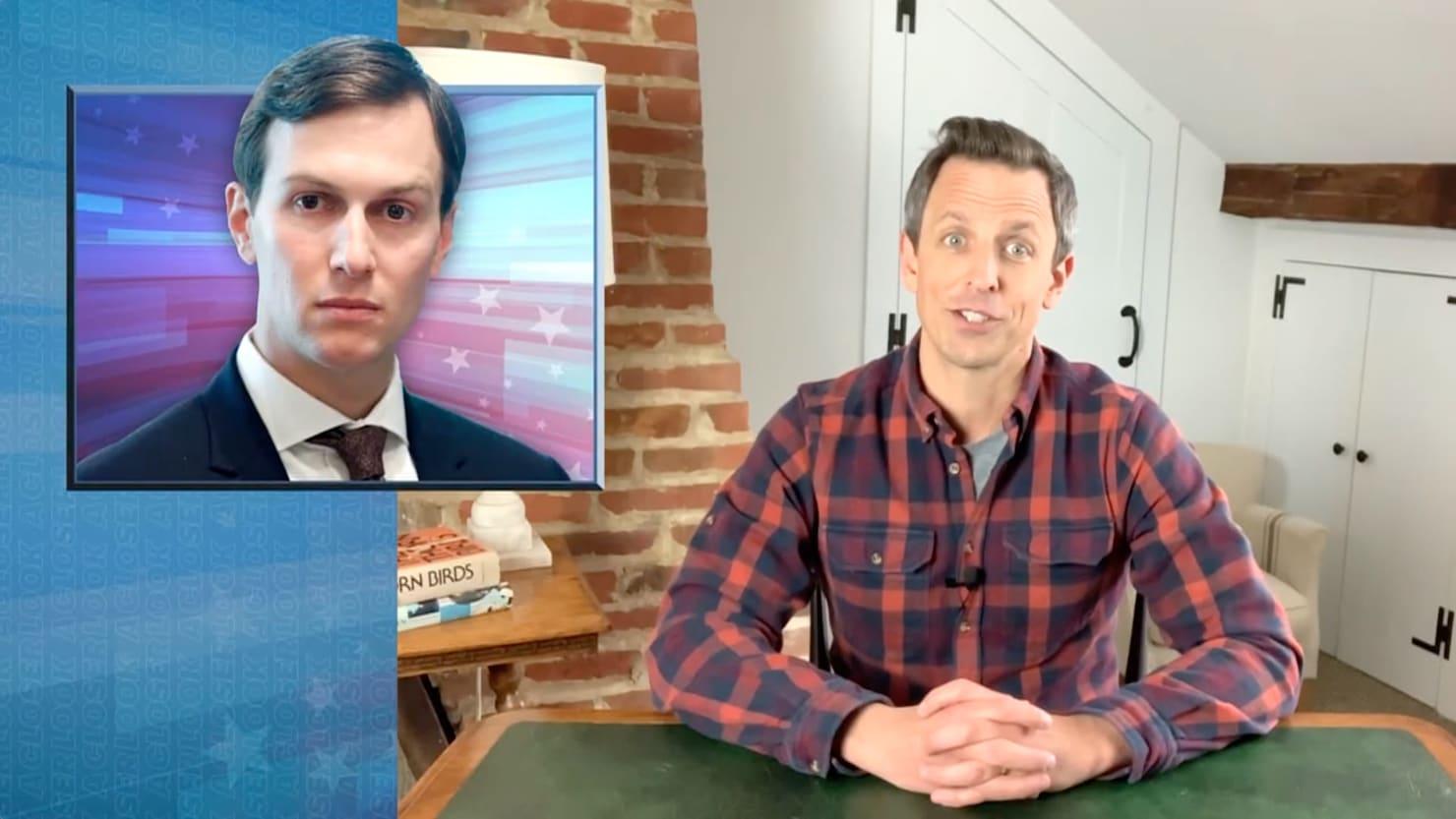Seth Meyers Demolishes 'Nepotism Case' Jared Kushner