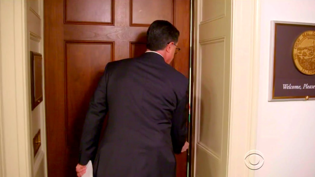 Stephen Colbert Escalates Feud With Devin Nunes, Barges Into His D.C. Office