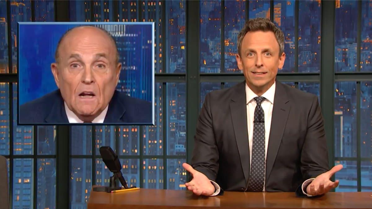 Seth Meyers Drags Rudy Giuliani's 'Insane Meltdown' with CNN's Chris Cuomo