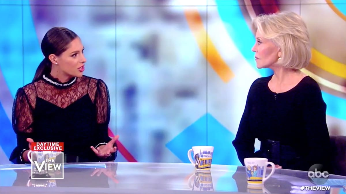 Jane Fonda Shuts Down Abby Huntsman on 'The View'