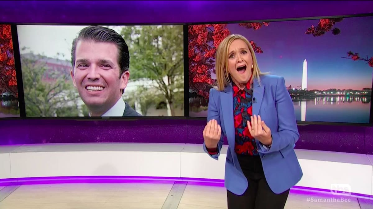 Samantha Bee Predicts Don Jr. Will 'Bring Down Trump's Presidency'