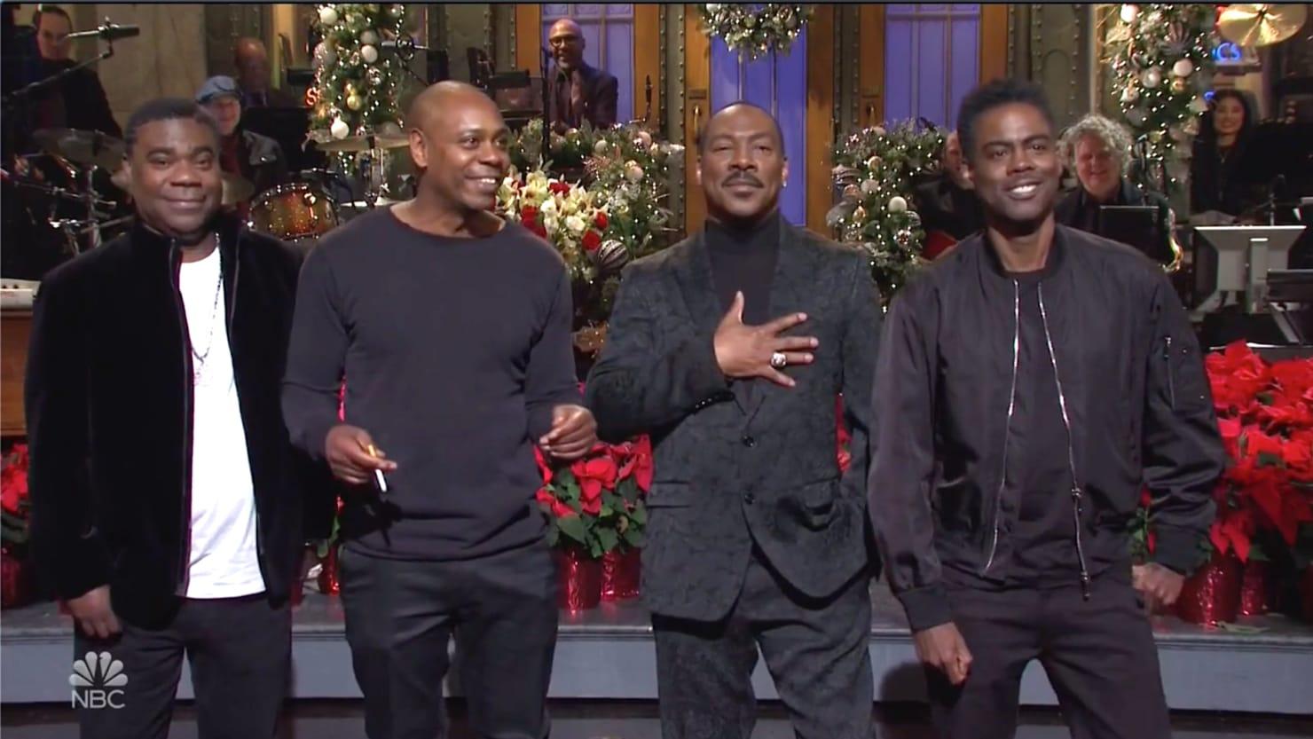 Eddie Murphy Roasts Bill Cosby in SNL Return: 'Who's America's Dad Now?'