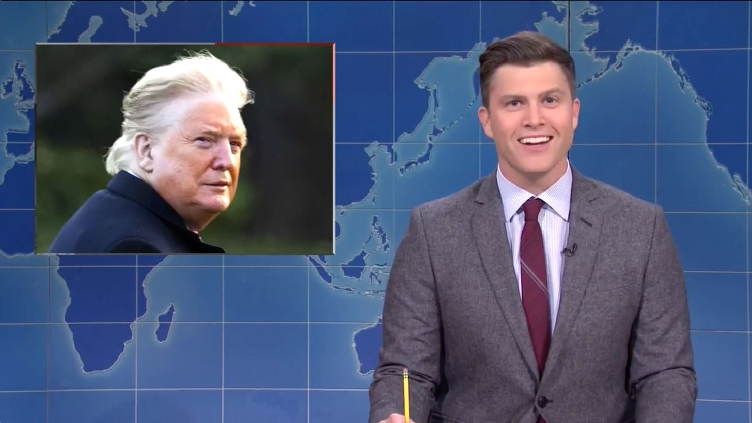 SNL Brutally Mocks Trump's Orange Face Tan Line Photo
