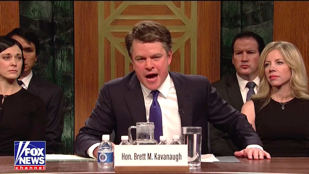 SNL: Matt Damon Absolutely Nails Brett Kavanaugh in Season Premiere