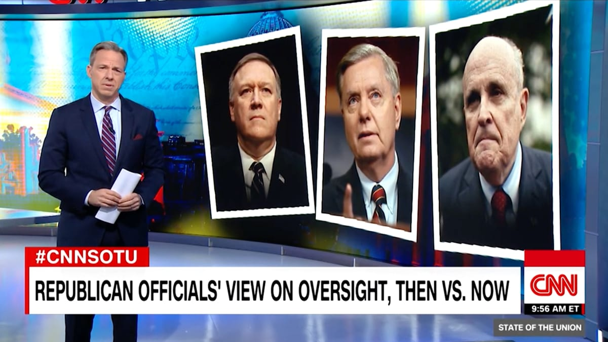 CNN's Jake Tapper Exposes Mike Pompeo, Lindsey Graham and Rudy Giuliani's 'Stunning' Hypocrisy