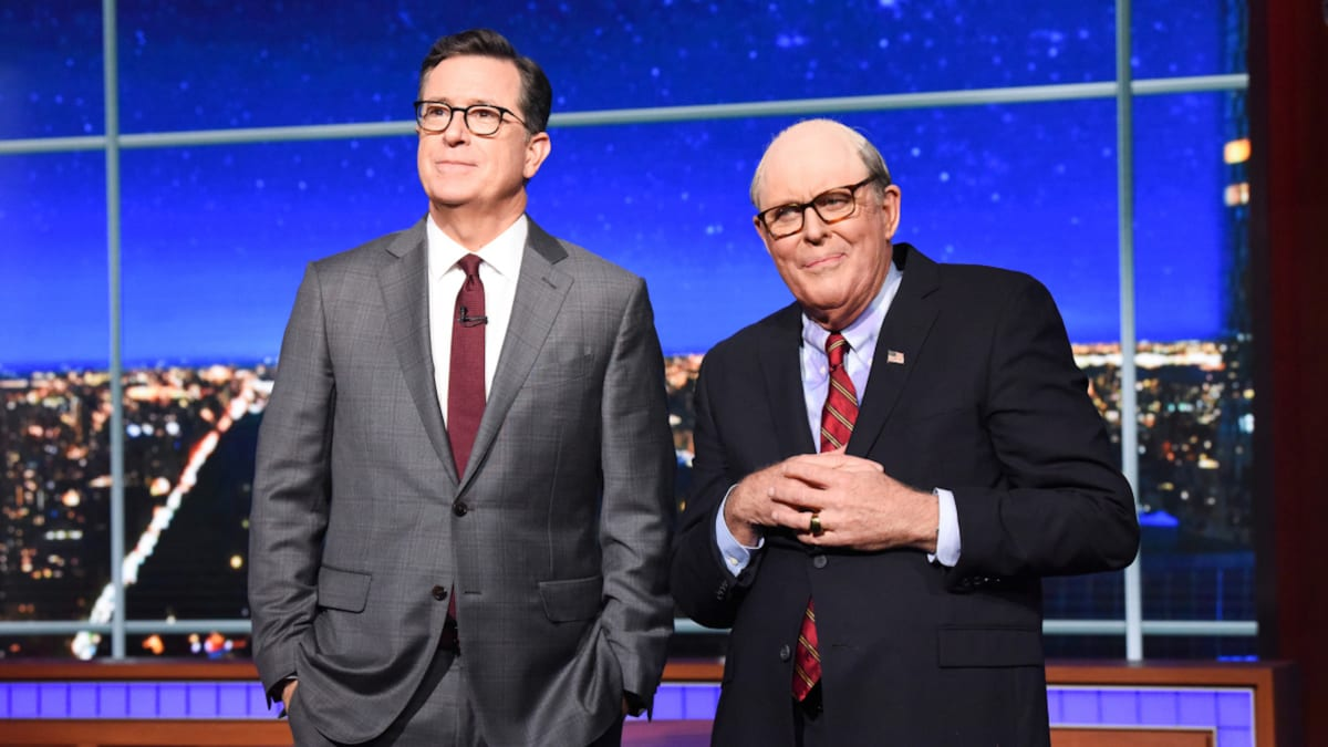 John Lithgow Debuts Insane Rudy Giuliani Impression on 'Colbert'