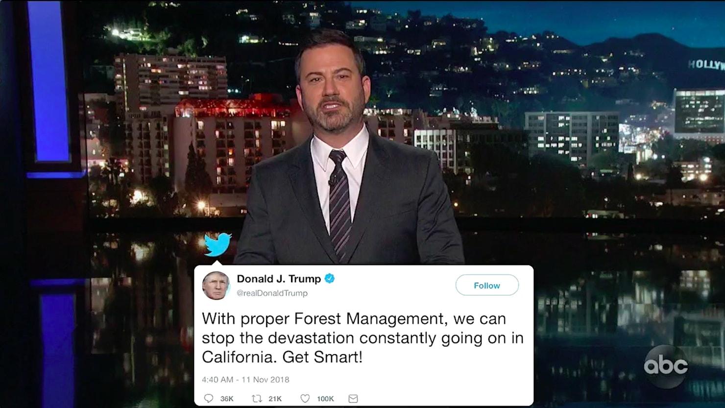 thedailybeast.com - Matt Wilstein - Kimmel Rips Trump's Heartless Response to California Fires