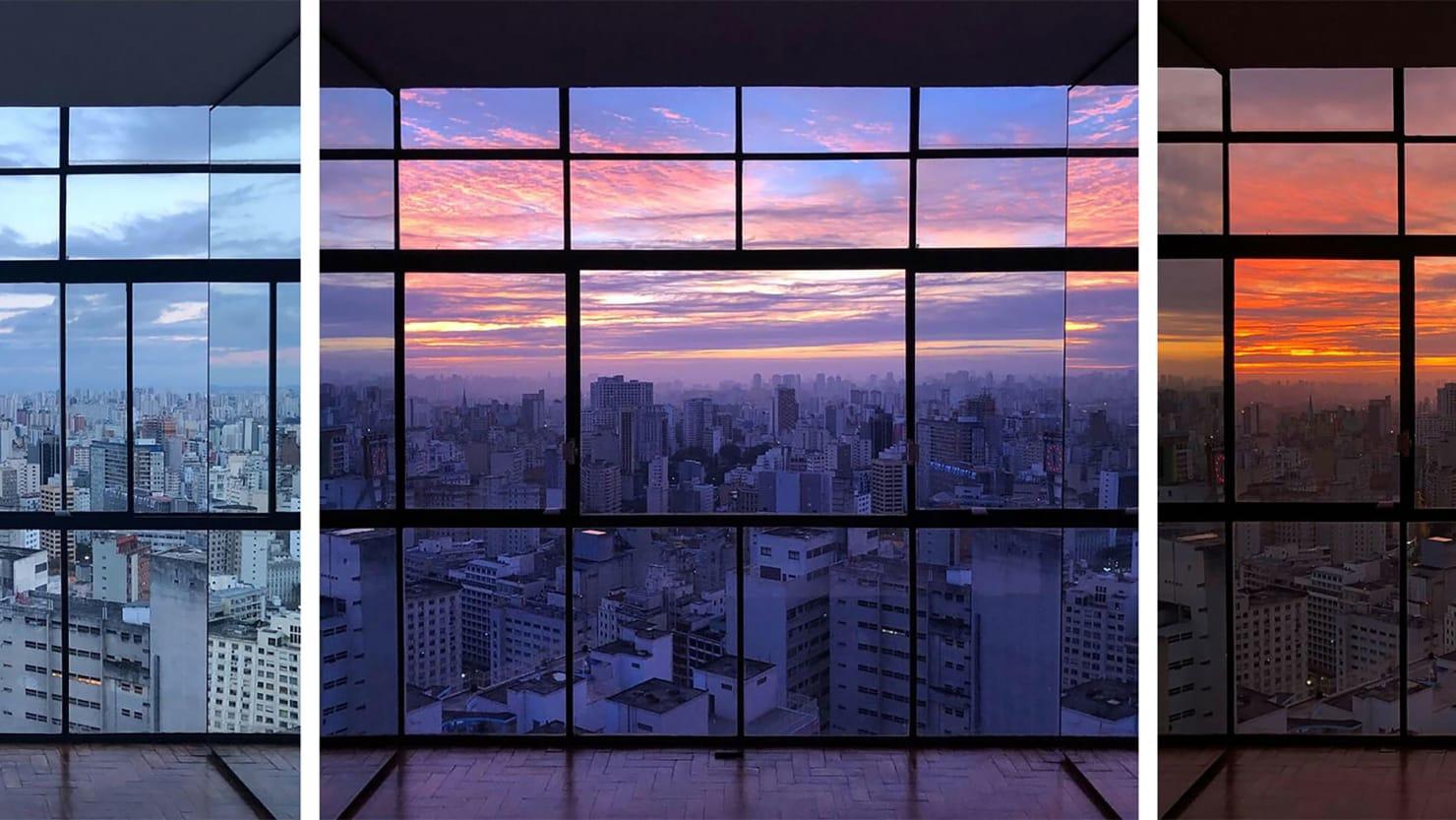 The Oscar Niemeyer Apartment with an Insane São Paulo Sunrise