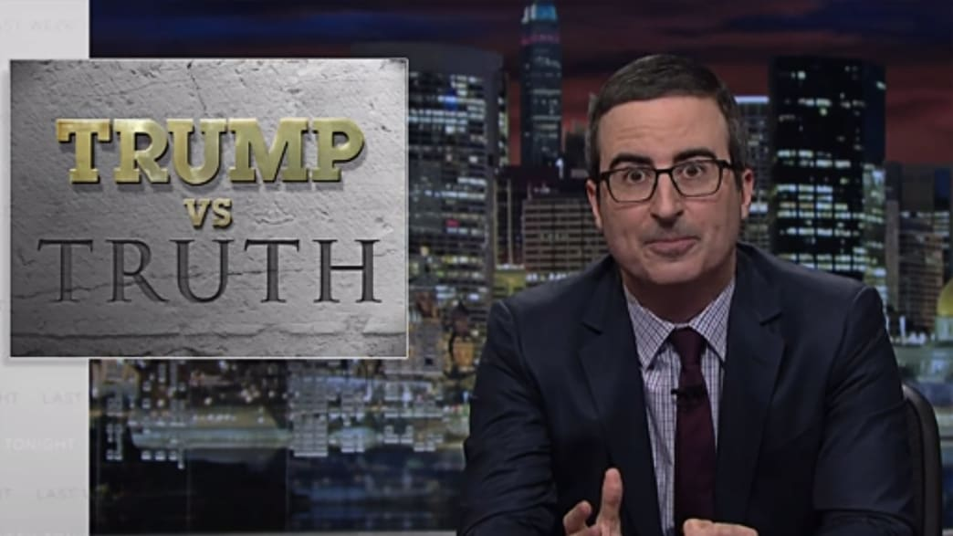 John Oliver Reveals How Trump Creates His Own Reality