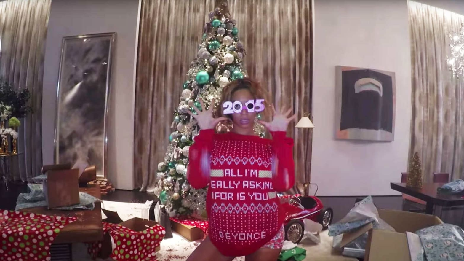 b2ad6712b92 Beyoncé and Whoopi Goldberg Are Making the Year s Best Ugly Christmas  Sweaters