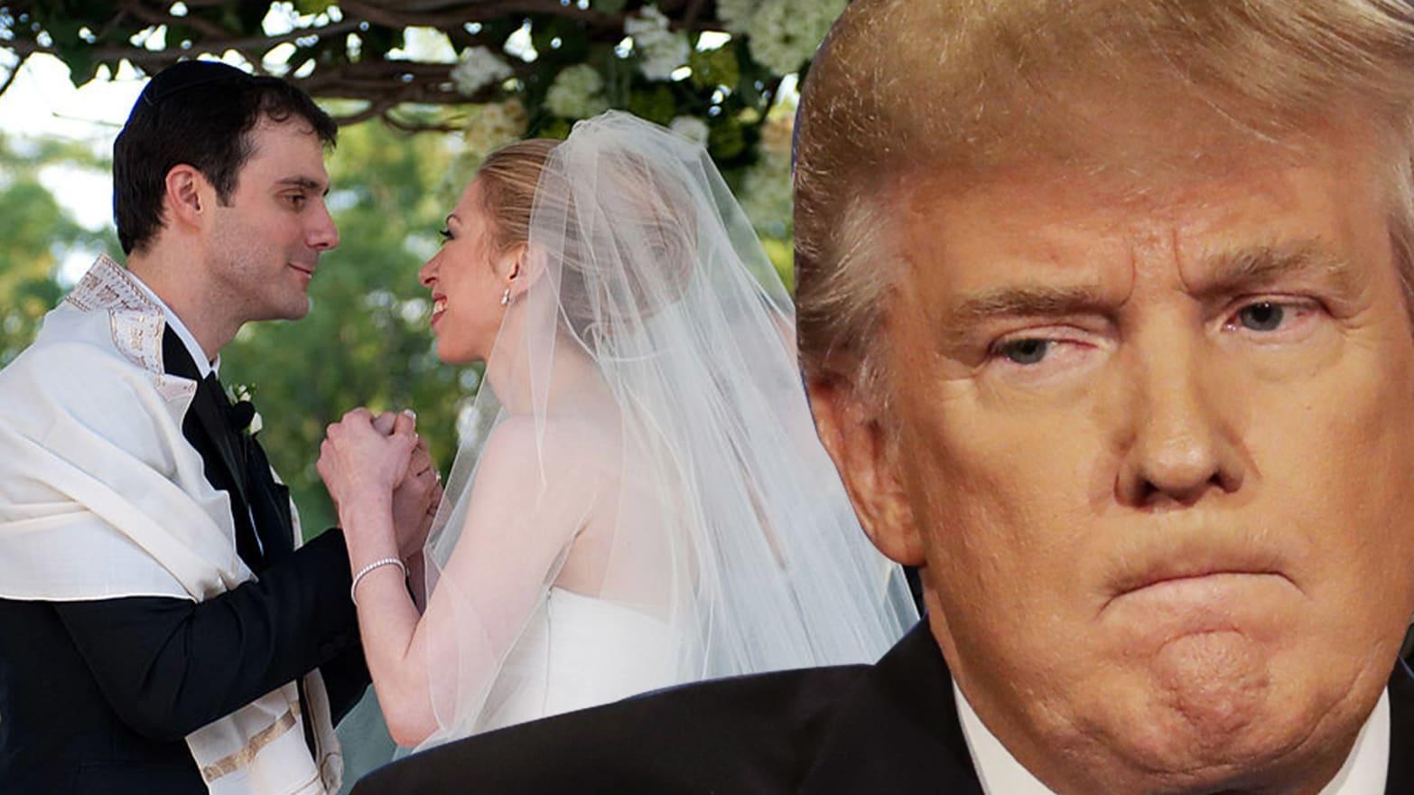 Trump Crashes Wedding.When Donald Trump Tried To Crash Chelsea Clinton S Wedding
