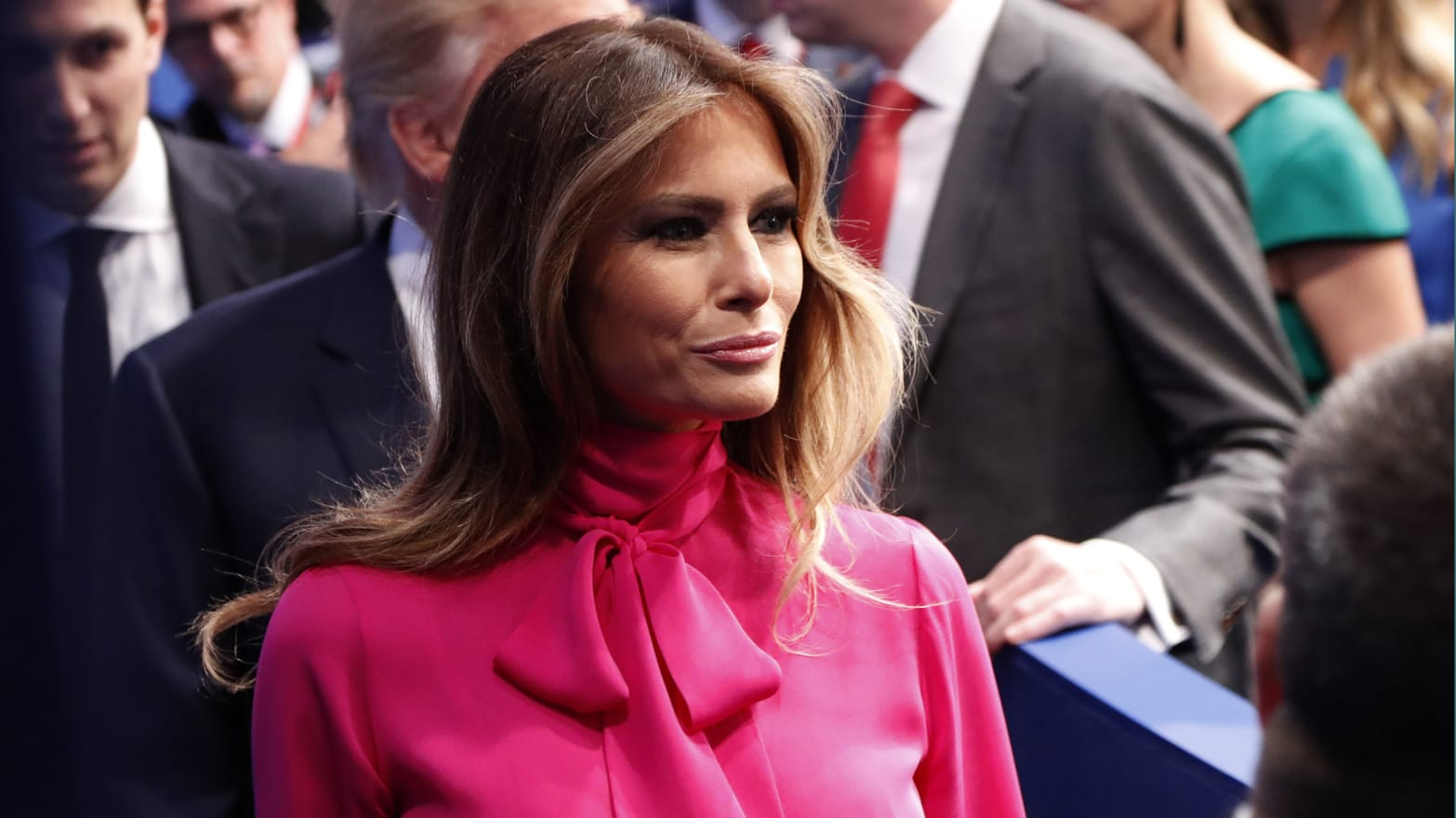 Sorry, Melania Trump's Pussy-Bow Blouse Doesn't Mean Anything