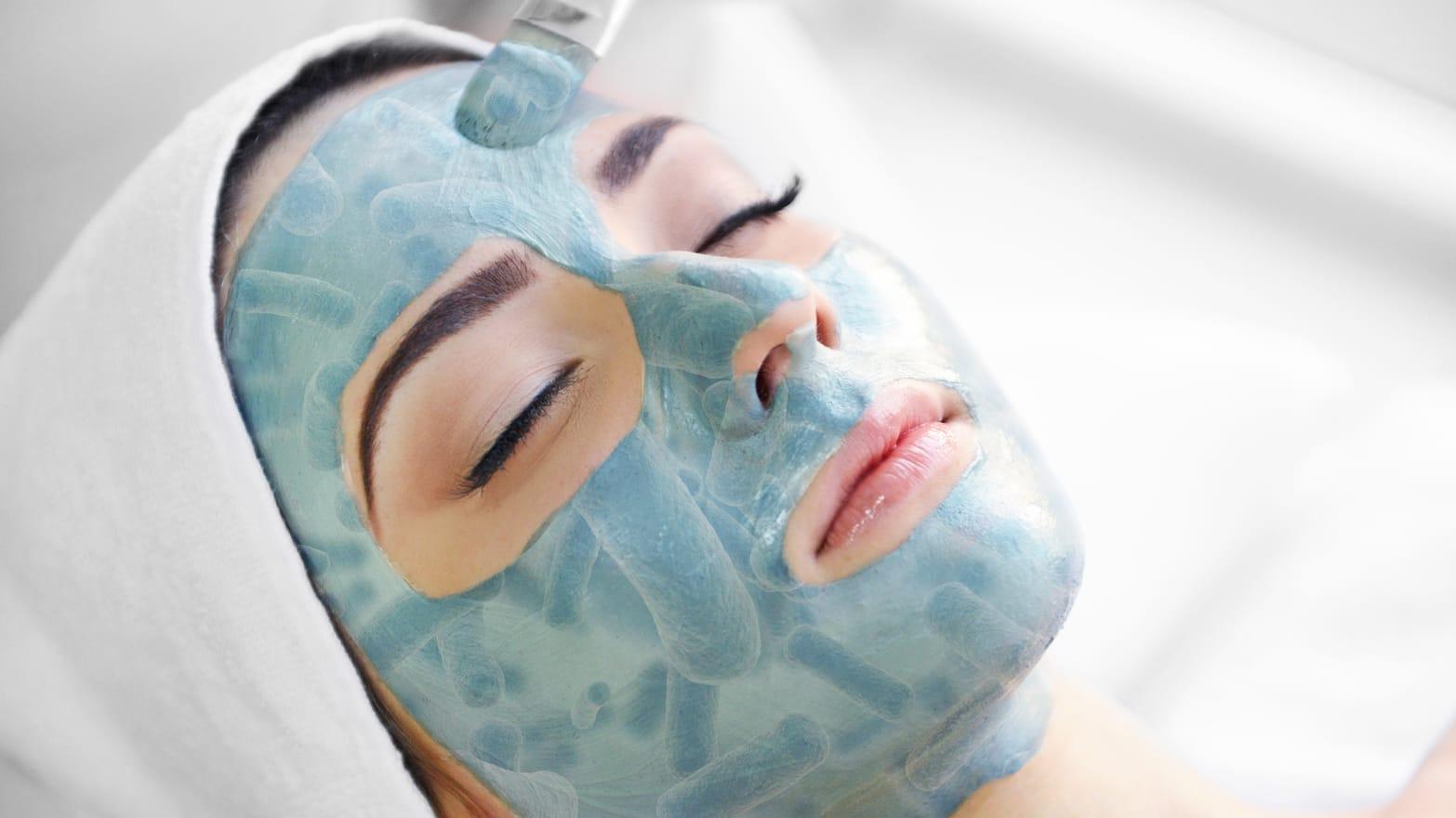 masque facial microbe