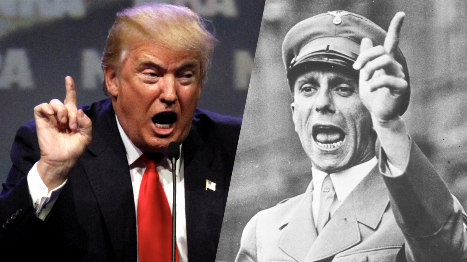 Image result for Trump and Goebbels