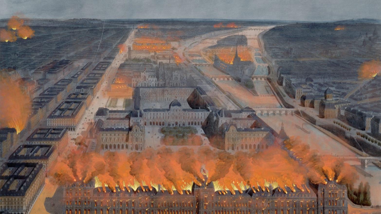 Bildergebnis für louvre fire 1871