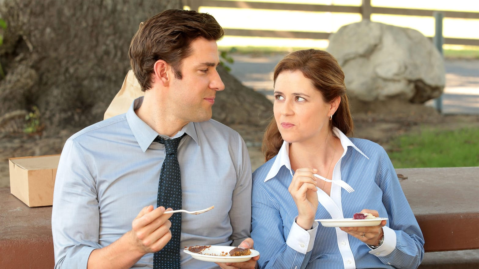 John Krasinski: Sorry 'Office' Fans, Jenna Fischer and I Were Not