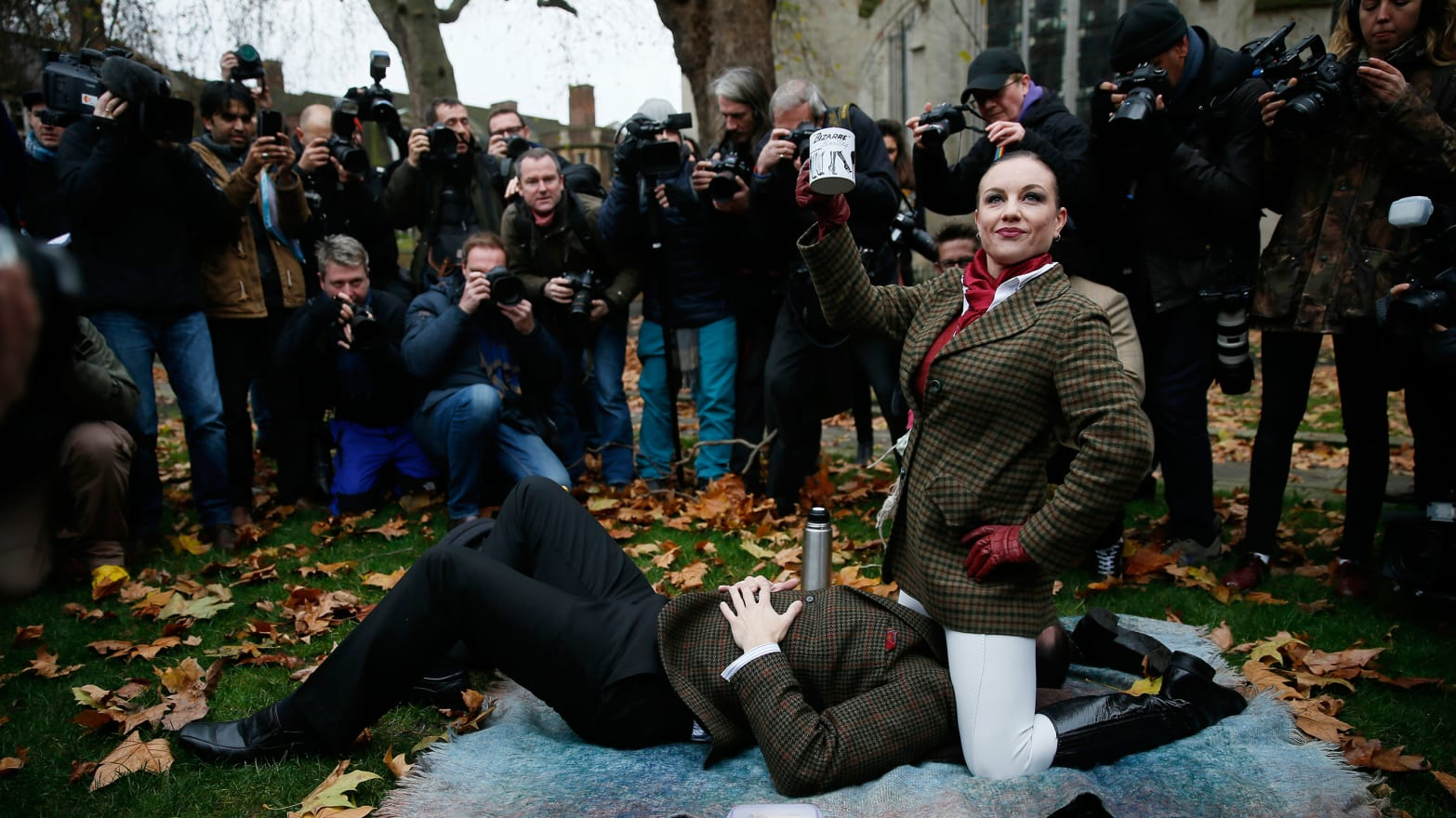 Britains Record-Breaking Face-Sitting Porn Protest