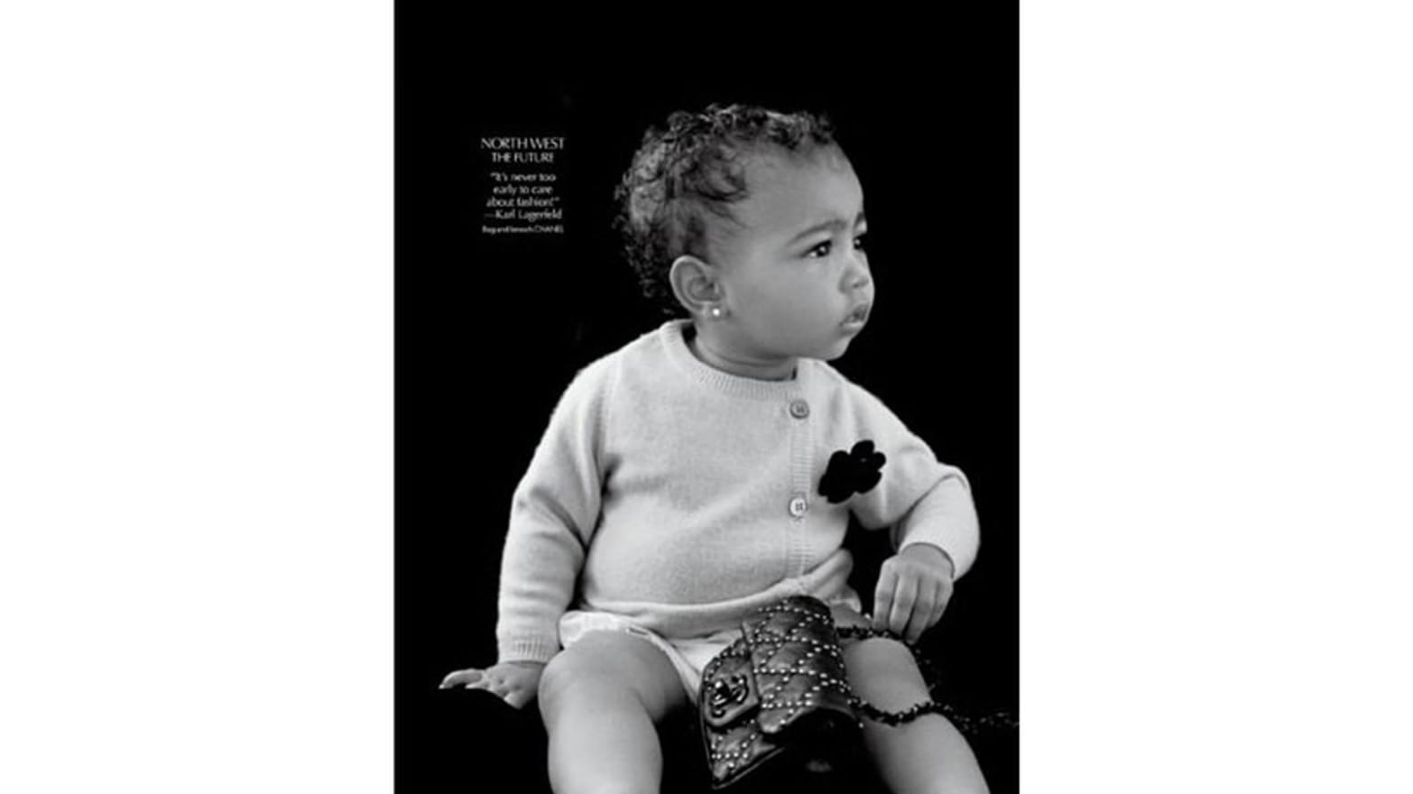 "Baby Boy Porn baby north west poses for cr fashion book; ""soft porn"