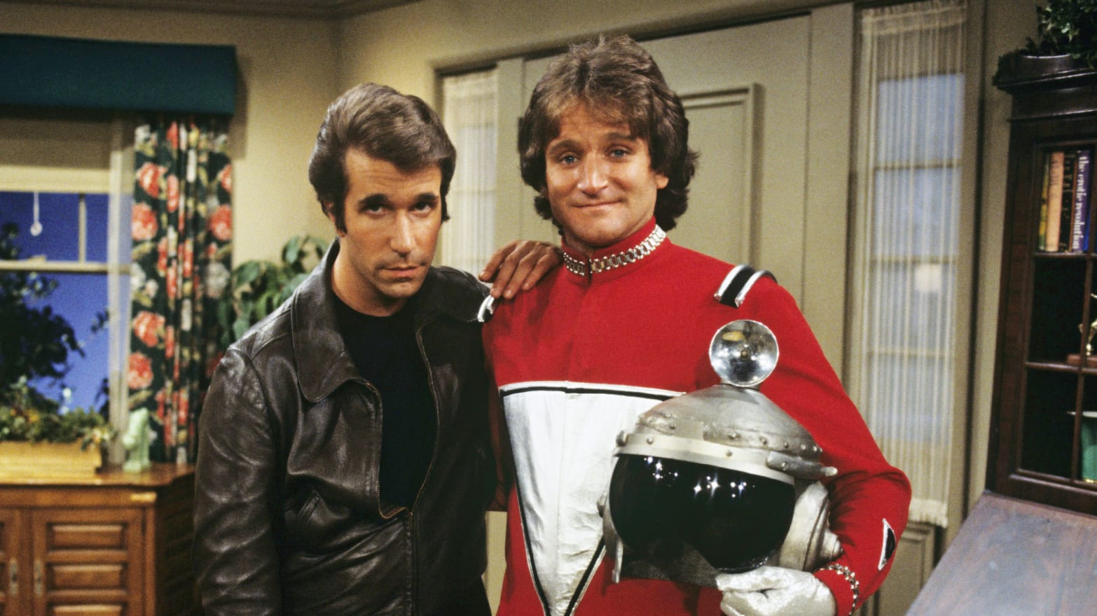 Image result for robin williams as mork in happy days