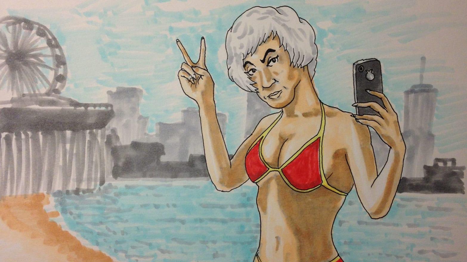 Bea arthur nude painting