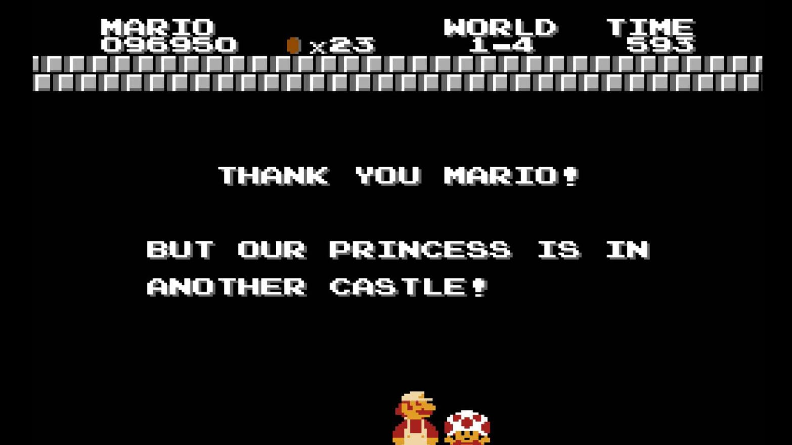 Image result for princess is in another castle