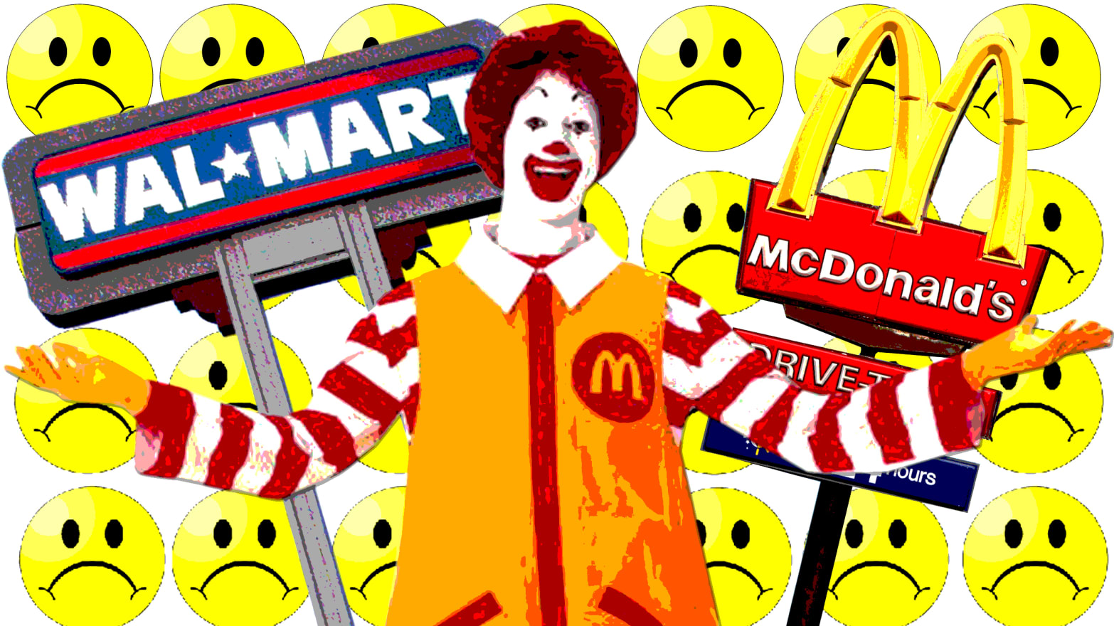 Walmart and McDonald's, Out and Proud as Corporate Scrooges