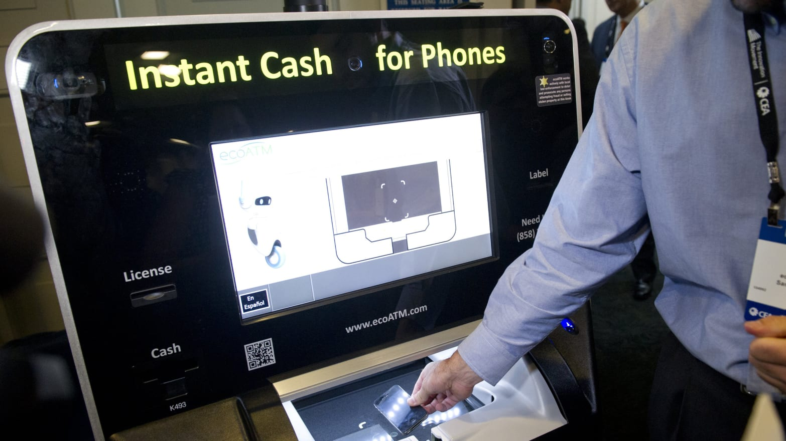 ecoATM offers consumers a new way to sell used cell phones and