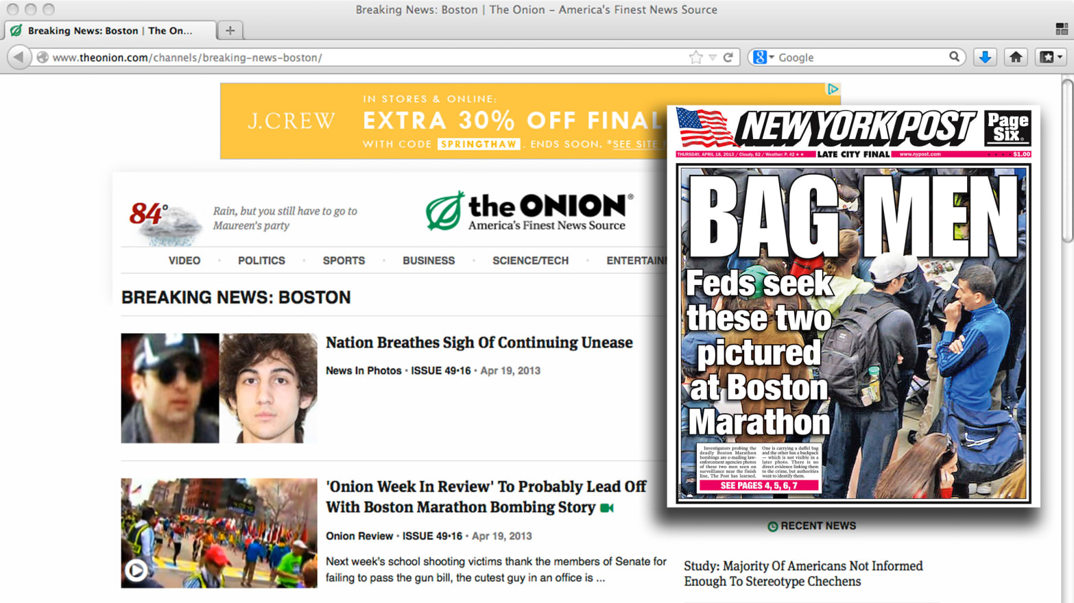 All Hail The Onion The Fake News Site S Very Good Week
