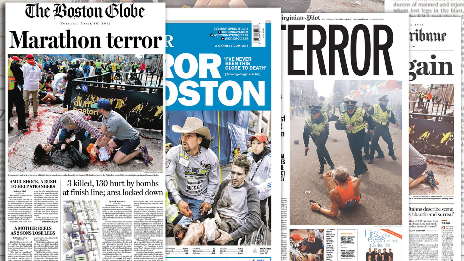 The Front Pages After the Boston Marathon Bombing