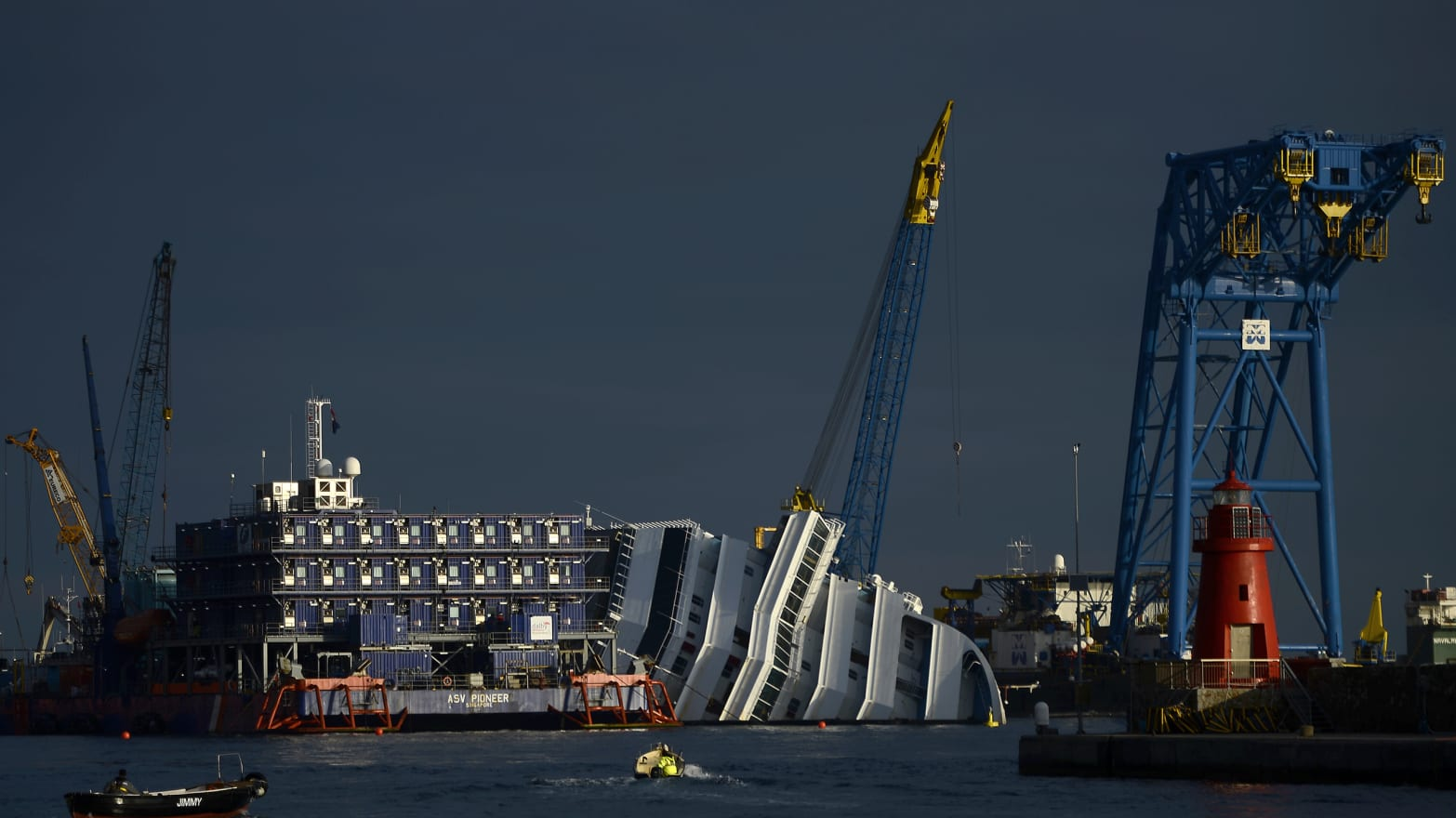 Risky Rescue: A Year After It Sank, Raising the Costa Concordia