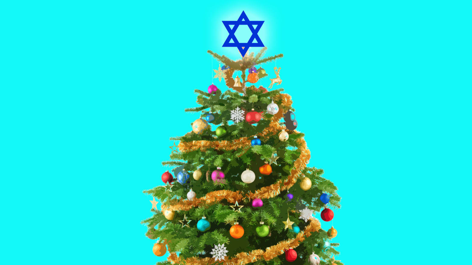 Christmas Tree Illustration.Meet The Jews Who Love Christmas