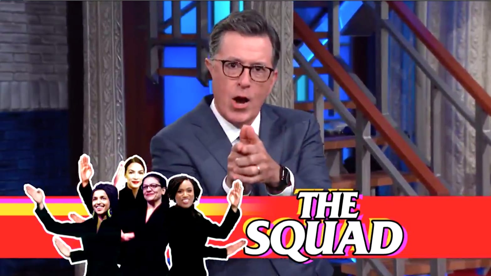 Stephen Colbert Mocks Trump's Lame Clapback at The Squad: 'Racism Is Your Brand'