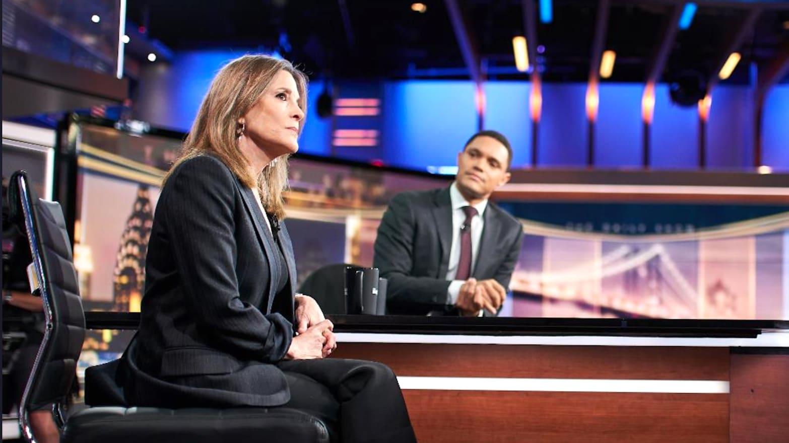 Marianne Williamson Convinces 'Daily Show' Host Trevor Noah She's 'Pro-Vaccine'