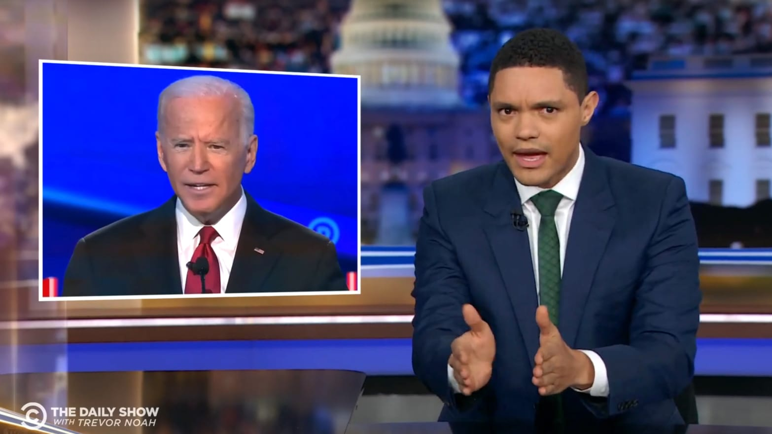 Trevor Noah Roasts Joe Biden Over Bad Democratic Debate Answer on Son Hunter