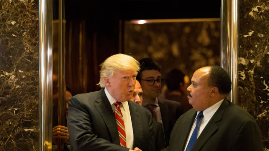 Martin Luther King Iii Meets With Trump