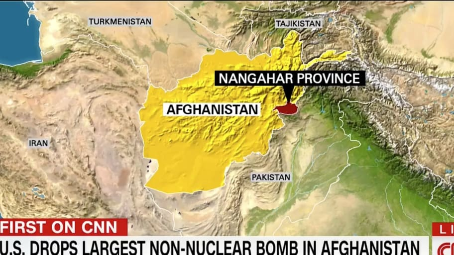 U S  Drops Largest Non-Nuclear Bomb in Afghanistan