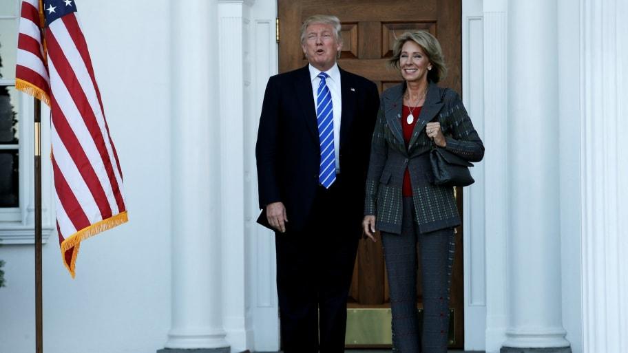 Betsy Devos Trumps Education Pick Plays >> Trump Picks Betsy Devos For Education Secretary