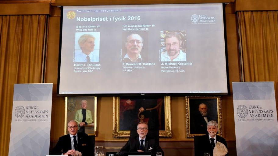British Trio Win Nobel Physics Prize