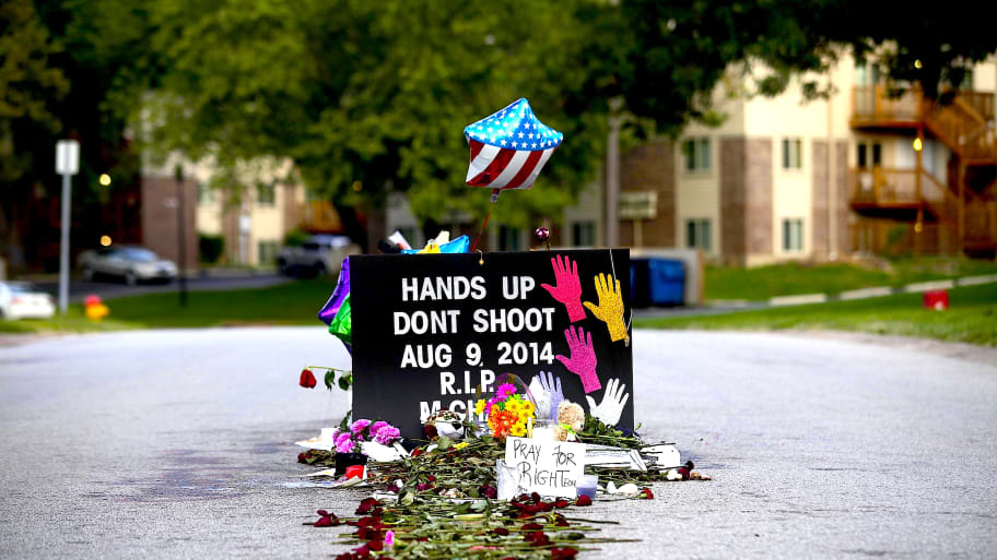 Michael Brown Memorial Removed