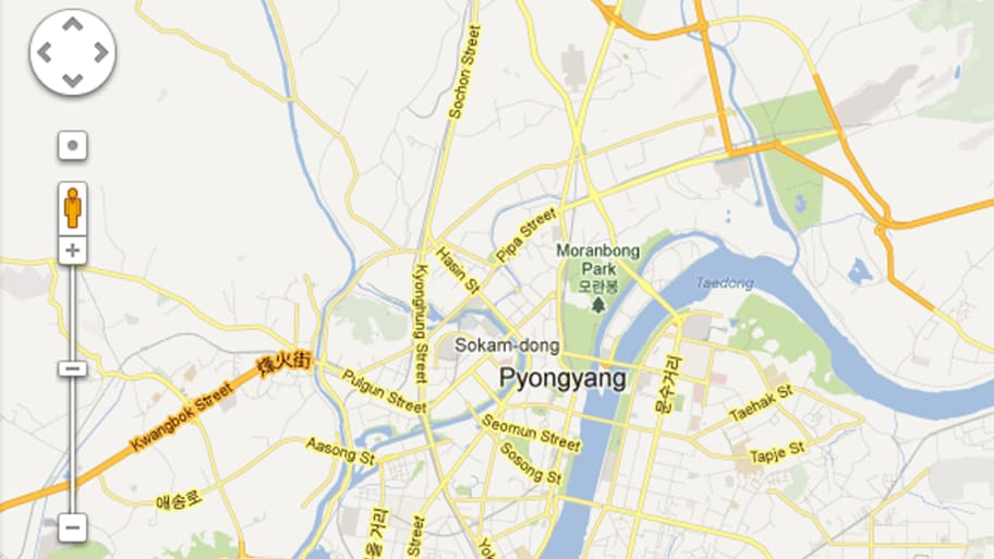 Google Maps North Korea on