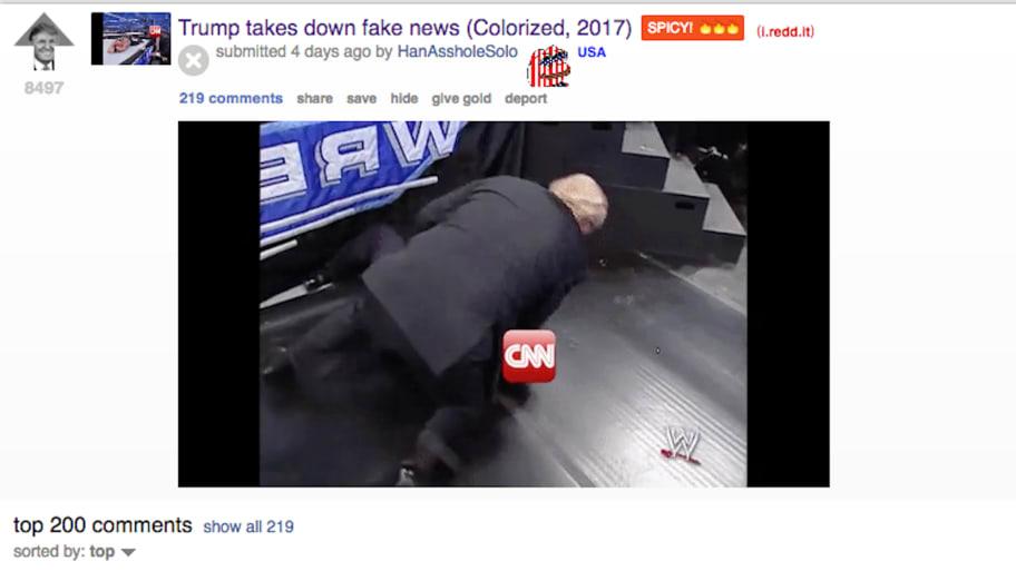Trump's CNN Tweet Linked to Reddit User HanAssholeSolo