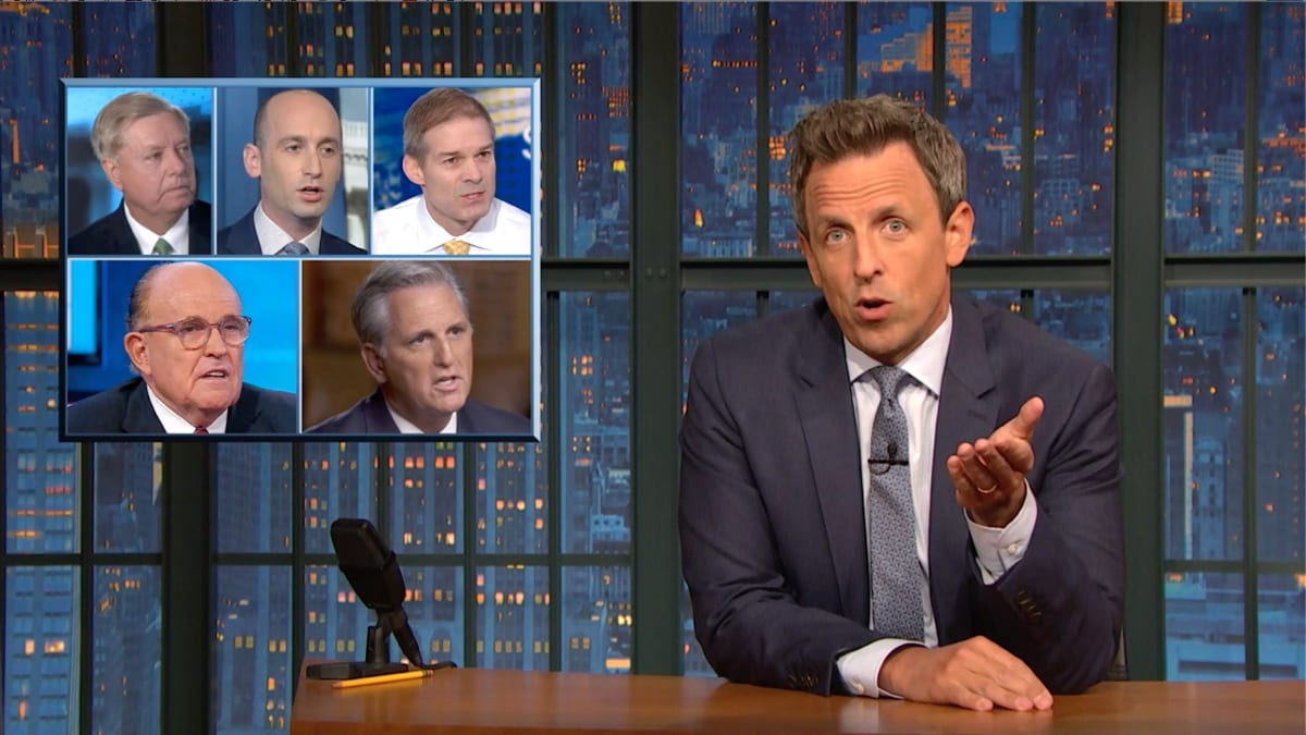 Seth Meyers Exposes Republicans' 'Flailing' Attempts to Defend Trump Over Ukraine Scandal