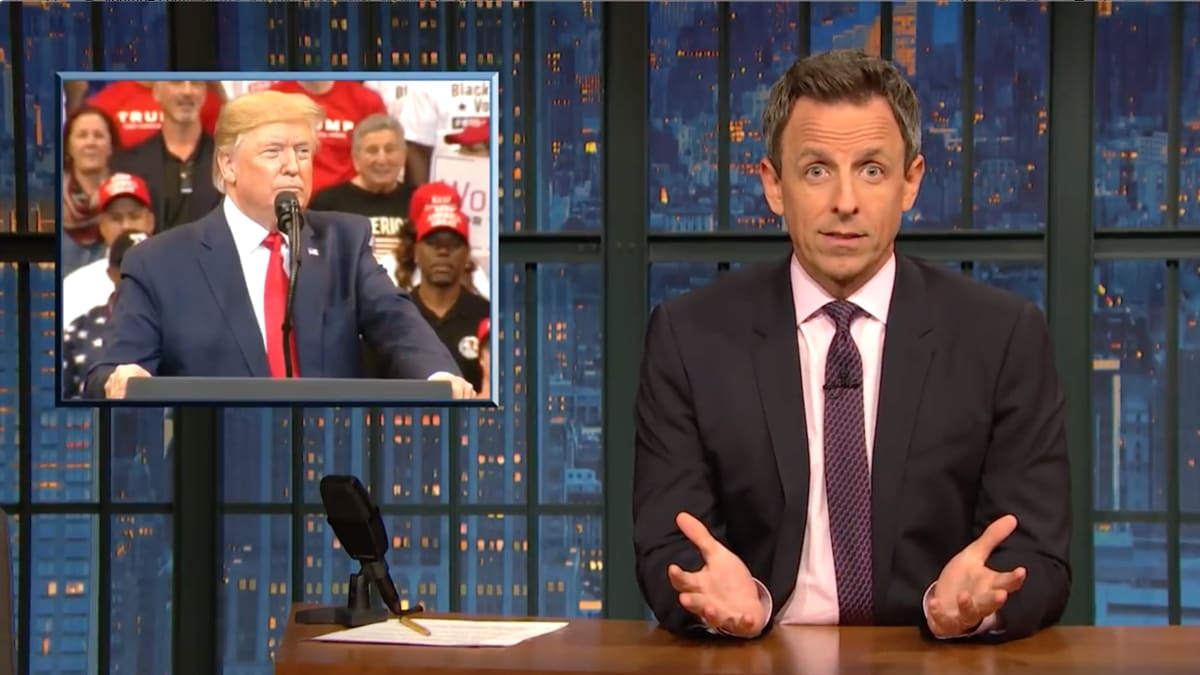 Seth Meyers Destroys Trump's 'War on Thanksgiving' Nonsense: 'What the Fuck Are You Talking About?!'