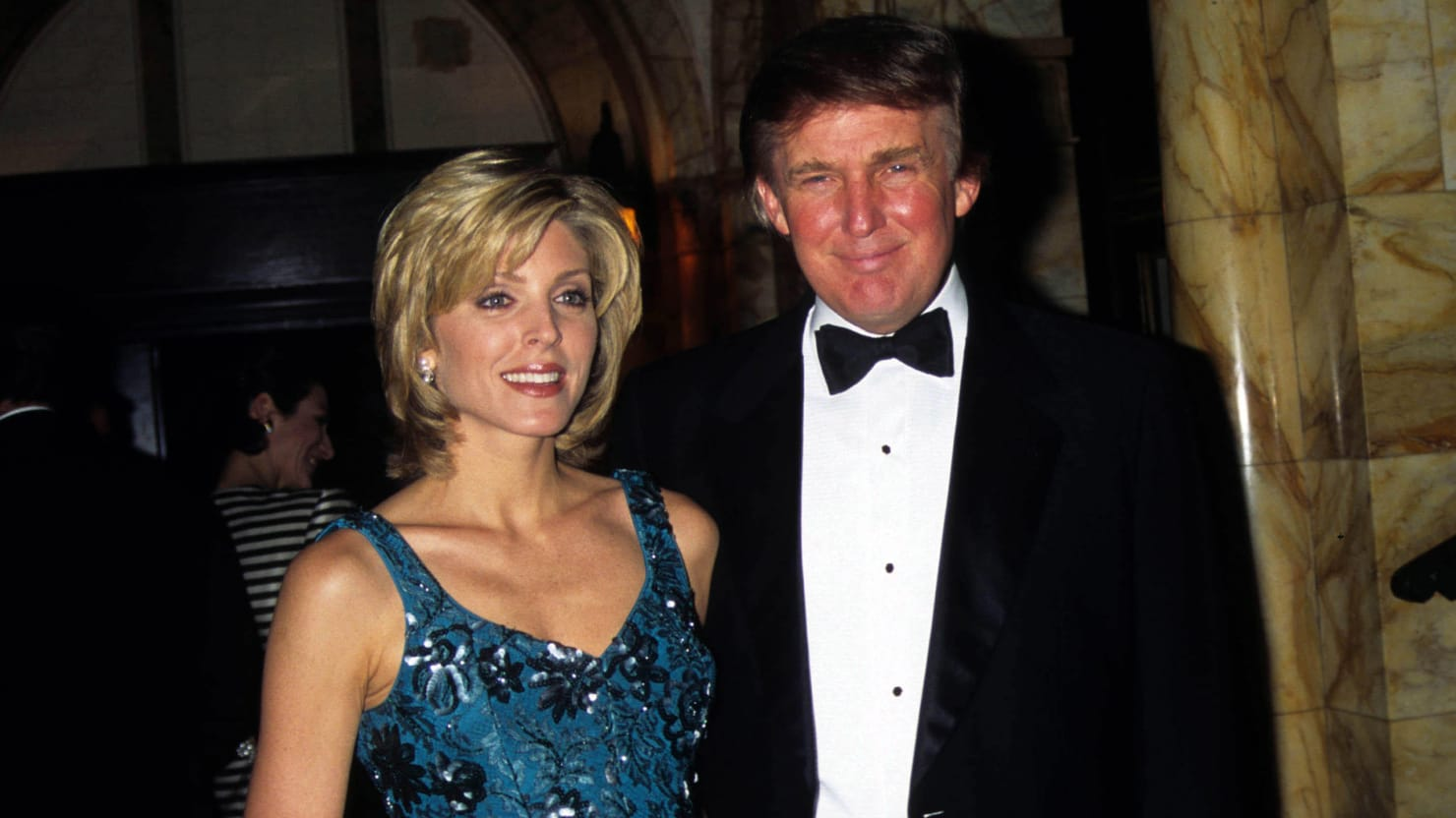 Donald Trump Made Out With Marla Maples As She Delivered