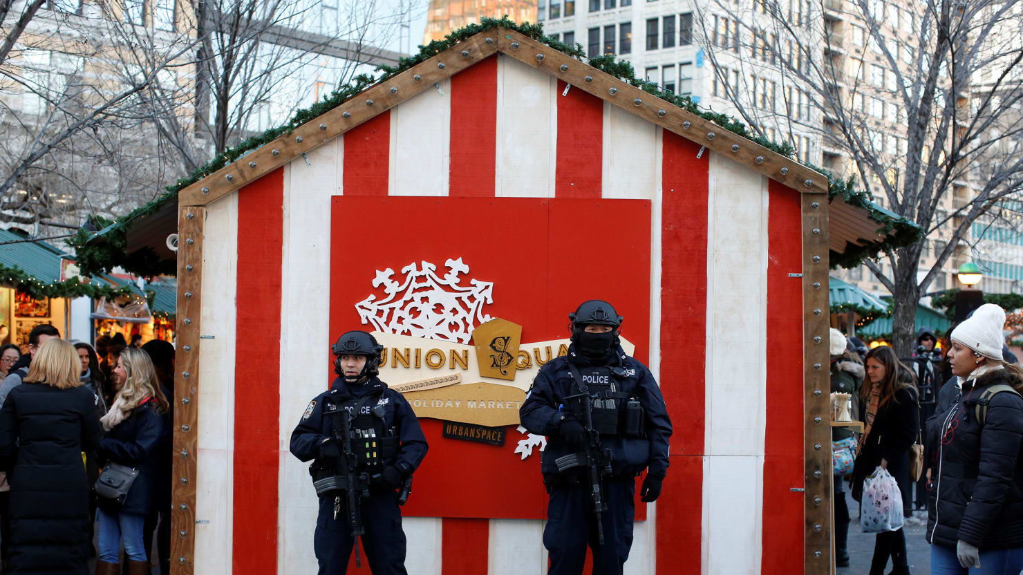 New York City Christmas Market Now Guarded by Heavily Armed and ...