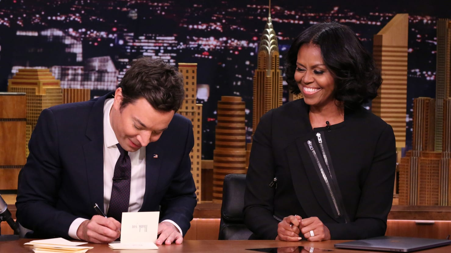 3a9f4a19 First Lady Michelle Obama's Late-Night Goodbye: Don't Be 'Afraid of What's  to Come'